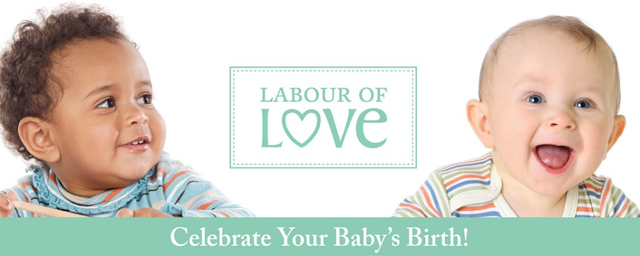 Labour of Love Title Banner - Celebrate Your Baby's Birth!
