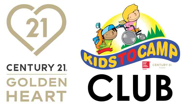 Golden Heart Award and Kids to Camp Club Logos