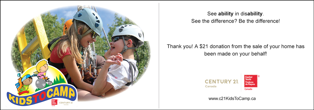 CENTURY 21 Easter Seals Thank You Card