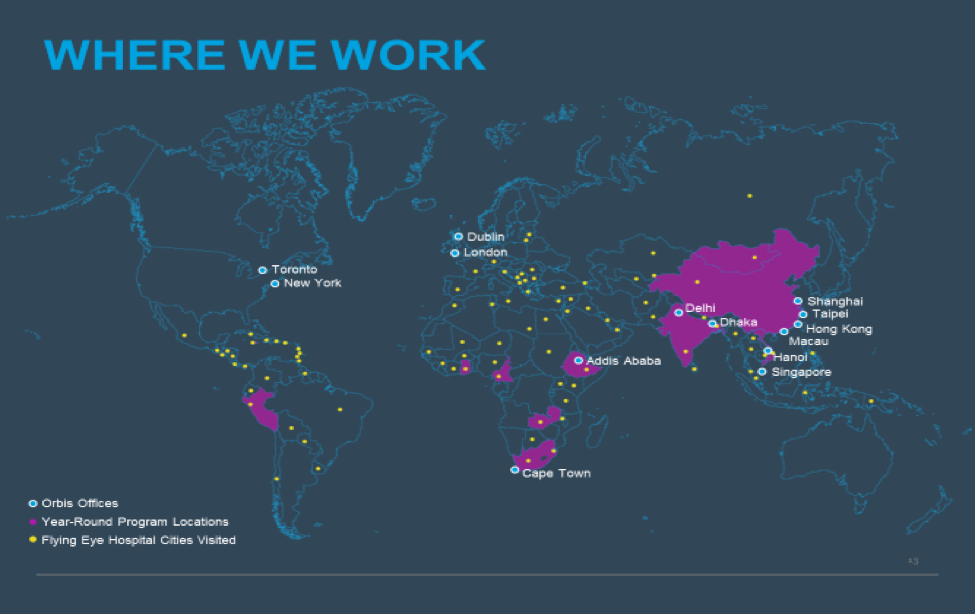 Map of where we work