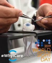 Practicing Eye Surgery - World Sight Day