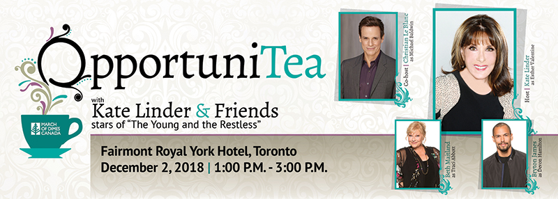 OpportuniTea Toronto with Kate Linder and Friends December 2 2018