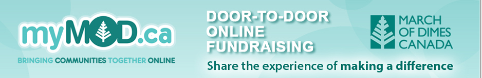 myMOD.ca Door-to-Door online fundraising